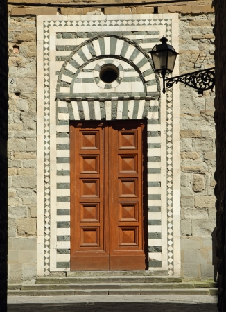 ornamental doorway to the Santo Stefano al Ponte church in Florence photo