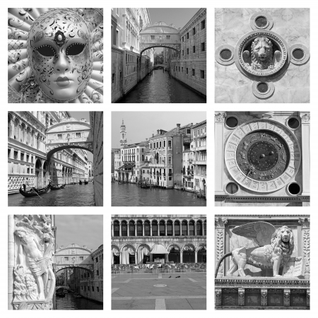 venetian landmarks collage  photo
