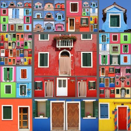 抽象的な家コラージュ