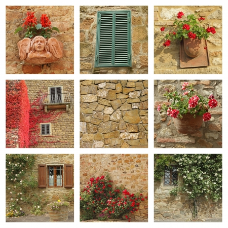 tuscan house: tuscan house facade collage