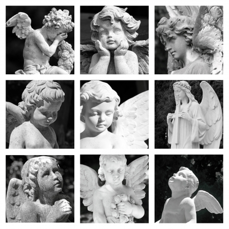 cemetery angels collage photo