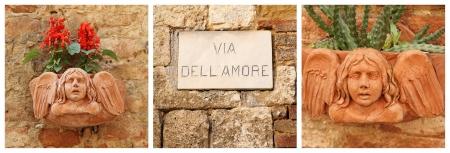 amore: Love street   italian via dell amore   collage