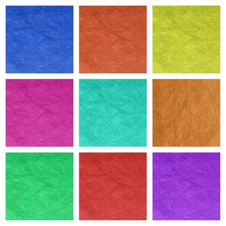 saturate: vivid multicolor vintage paper collage