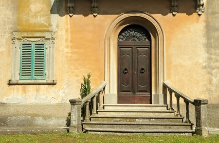 doorsteps to the old tuscan villa  photo