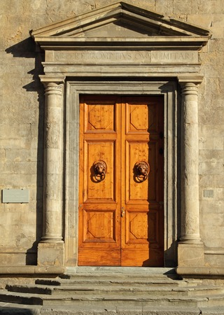 monumental door to the Palazzo Bartolini Salimbeni in Florence, Italy photo