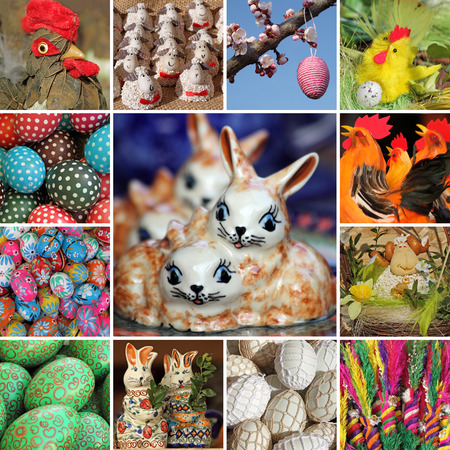 polish chicken: easter collage