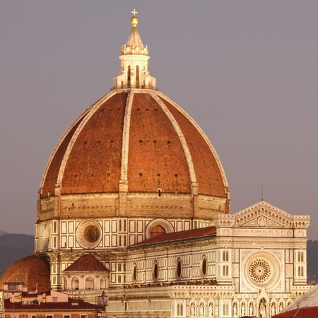 dawning: wonderful  view of cathedral of Florence at dawning light, Tuscany, Italy