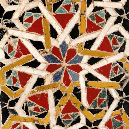 image of detail from antique mosaic pavement in cathedral of Amalfi, Campania, Italy, Europe photo