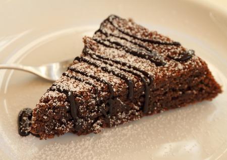 Torta Caprese   Capri cake  ,traditional chocolate and almond dessert from Capri island  Archivio Fotografico