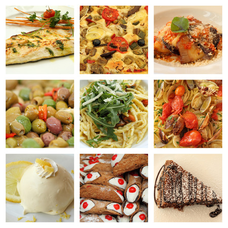 sweet course: italian food collage