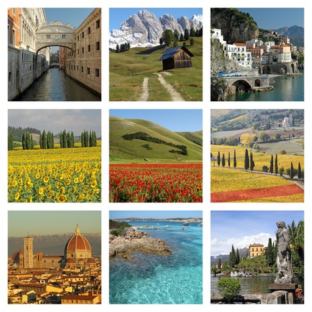 italian collage photo