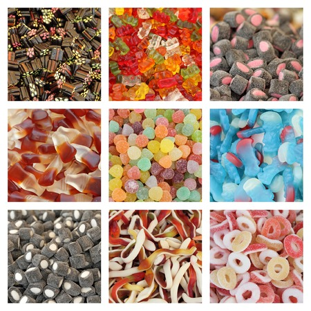 assorted jelly candies collage photo