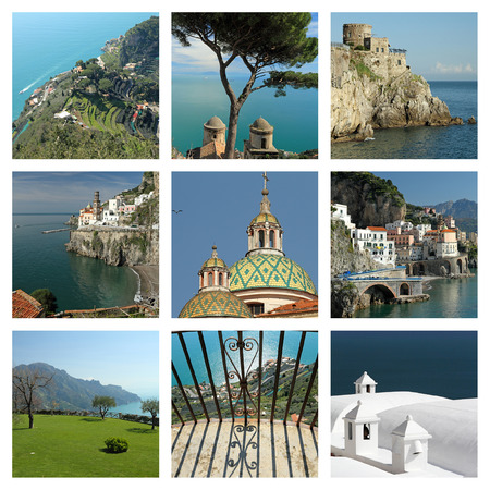 images of fantastic Amalfi Coast - collage , Italy photo