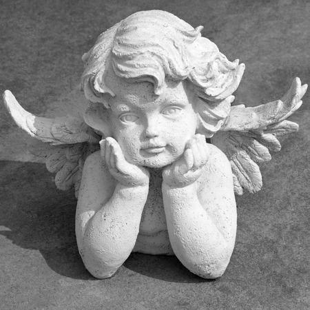 angel de la guarda: preciosa estatuilla angelical