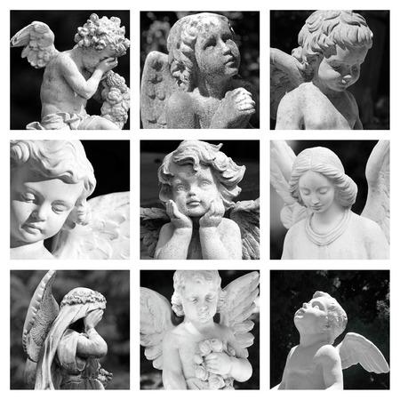 angeles bebe: grupo de imágenes con el cementerio figuritas angelicales