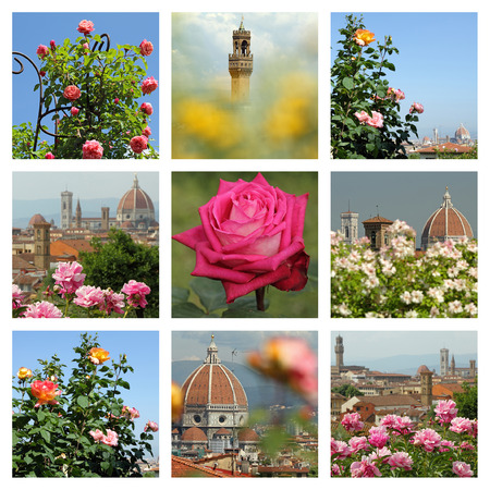 Folon and the Rose Garden  Folon e il Giardino delle rose    images collage, Florence, Italy, Europe photo