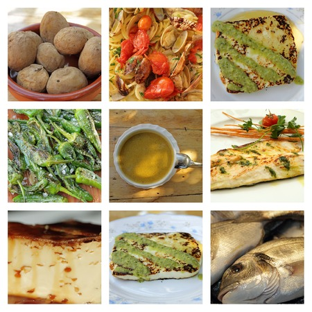 canarian: canarian cuisine collage Stock Photo