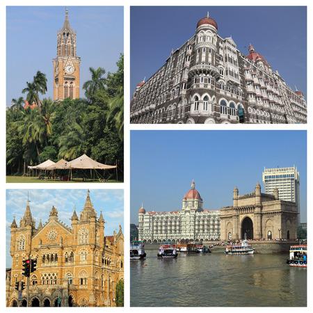 group of images with   Mumbai city   photo