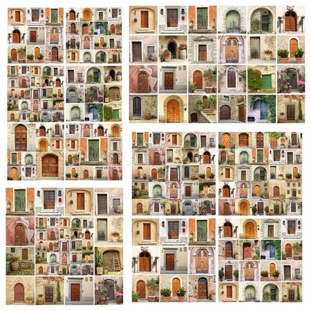 tuscan house: abstract wall