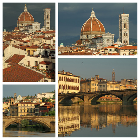series of images with spectacular landscape of Florence, Italy photo