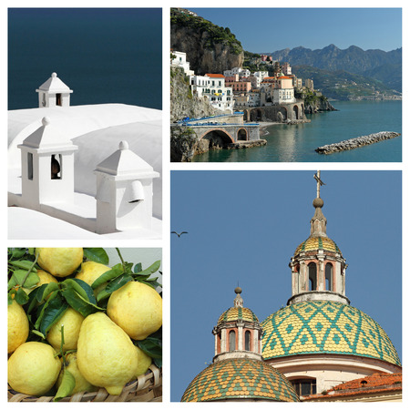 Amalfi coast collage photo