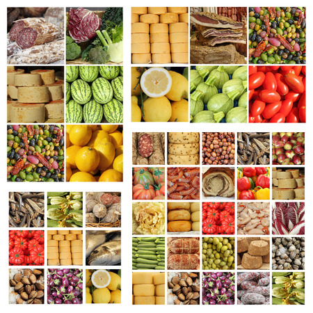 italian slow food collage photo