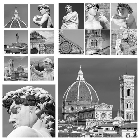 art of Florence collage , Italy photo