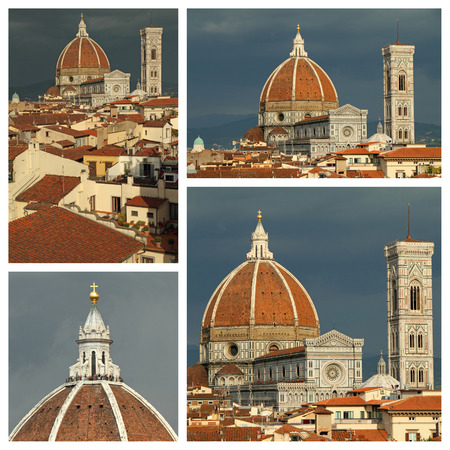 cathedral of Florence collage, Italy photo