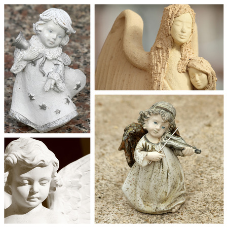 angel figurine: angelic collage