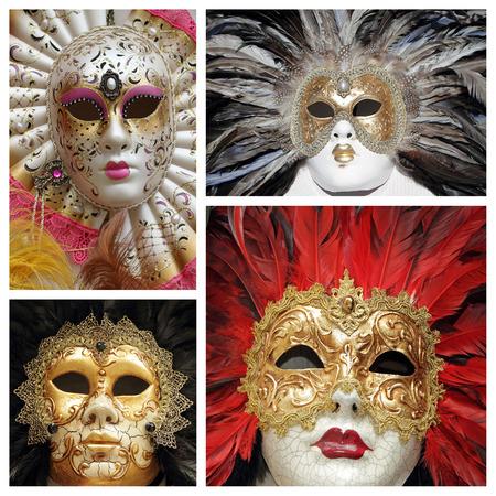 venetian masks collage photo