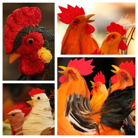 squeak: easter rooster collection, images from easter market