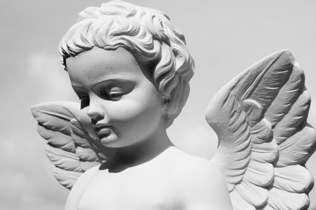 angel cemetery: angelic statue Stock Photo
