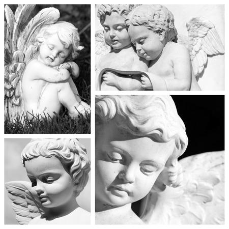 angeles bebe: tallada composición imágenes angelicales