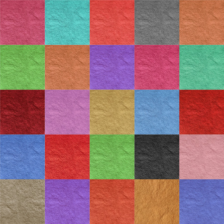 saturate: colorful paper checkered collage