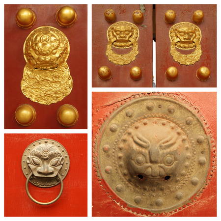 traditional chinese details collage photo