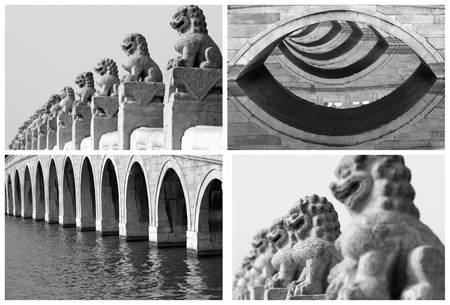 repetition: repetition art collage, images from Beijing , China
