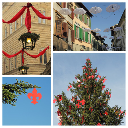 florentine: florentine christmas collage, Florence, Italy, Europe