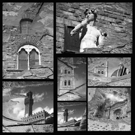 patrimony: impressive Florence art  patrimony collage,Tuscany, Italy, Europe Stock Photo