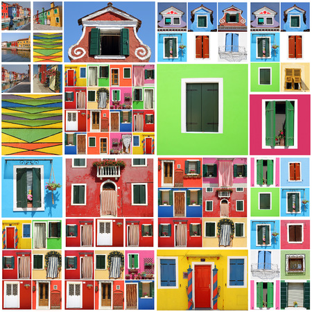 colorful abstract Burano house  pattern photo
