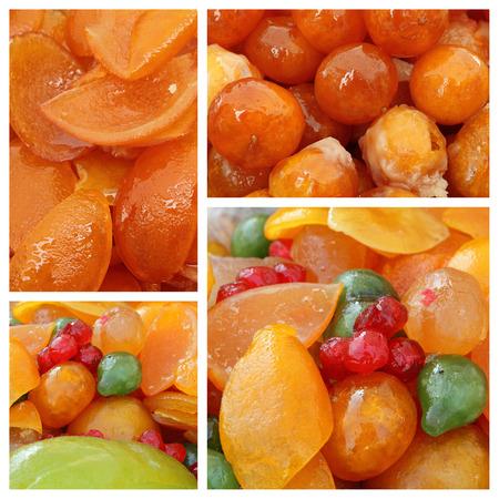 Modello di frutta candita Archivio Fotografico