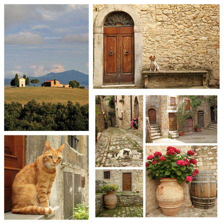 country lifestyle: tuscan country lifestyle collage