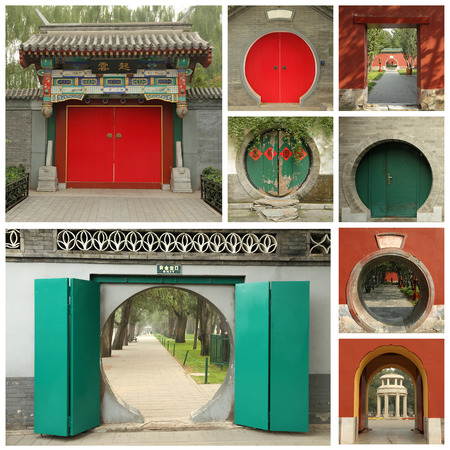 chinese wall: chinese door collage