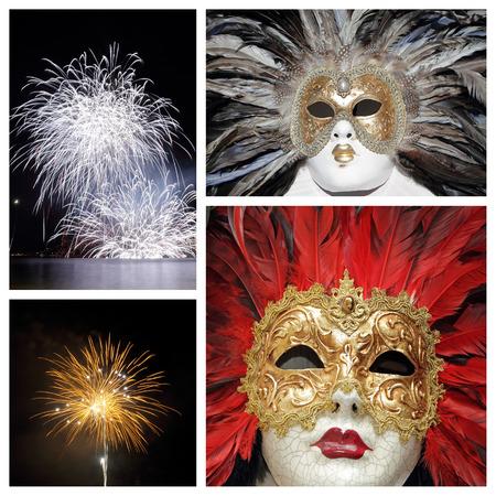 venetian carnival composition photo