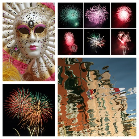 impressions: venetian carnival impression, Italy Stock Photo