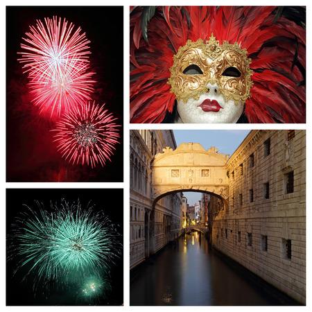 venetian carnival collage photo