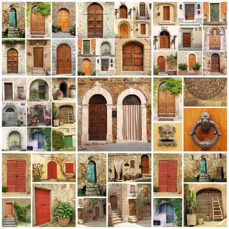 italian doors collage, Europe photo
