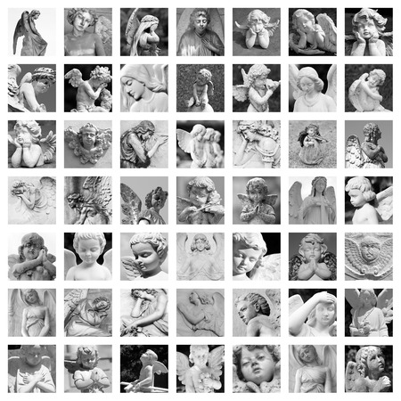condolence: guardian angels group of images Stock Photo