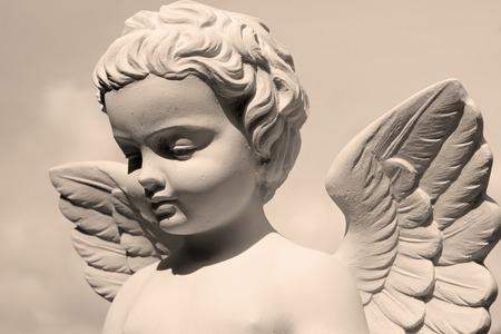 angelic statue Archivio Fotografico