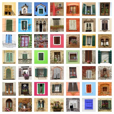 beautiful old windows collage photo