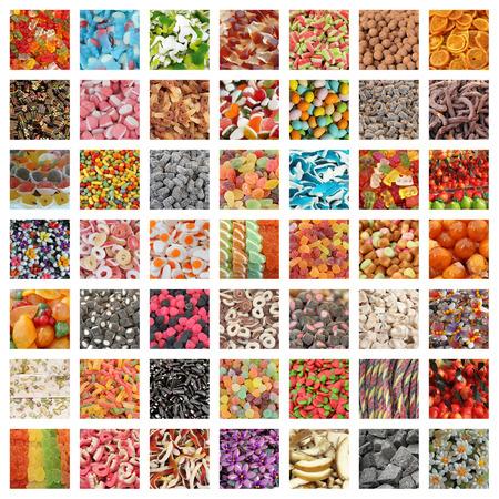 Süßigkeiten Collage Standard-Bild - 37426614